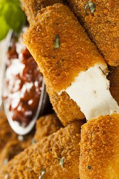 Wondering how to make mozzarella sticks at home? Our homemade mozzarella sticks recipe is the perfect side to a summer's day or an afternoon spent watching the football. Find out how to make mozzarella sticks that ooze deliciousness and provide stringy moreish flavour below. Homemade Mozzarella Sticks, Tray Bakes, Cornbread, Just In Case, Vegetarian, Football, Make It Yourself, Baking, Ethnic Recipes