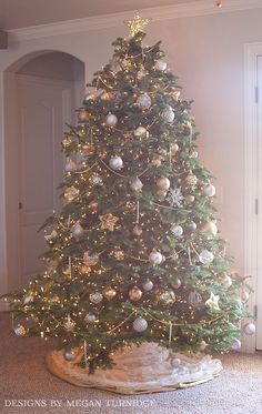 Gold and Silver Traditional Christmas Tree