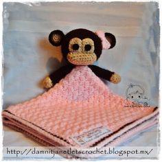 monkey security blanket- free pattern