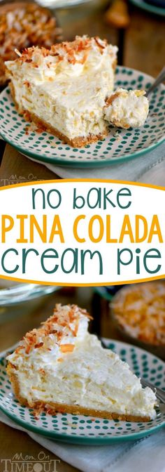 No Bake Pina Colada Cream Pie - From Mom on Time Out :: @momontimeout :: | Glamour Shots Photography