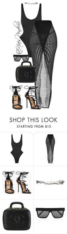"""Untitled #128"" by naes-penderie on Polyvore featuring Norma Kamali, Dsquared2, Pearls Before Swine, Chanel and Victoria Beckham"