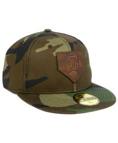New Era Detroit Tigers The Logo of Leather 59FIFTY Cap - Green 7 1/2