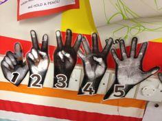 Photocopied hands