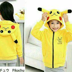 B9 - Jaket Kids Pikachu 55.000 Bahan babyterry -- Fit 3-5 Thn (LD 78 Pjg 45) , Berat 0.25 kg