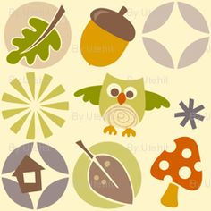 owl autumn pattern fabric by utehil for sale on Spoonflower - custom fabric, wallpaper and wall decals