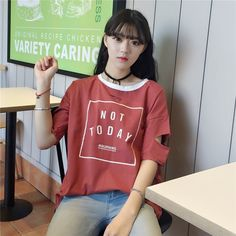 Buy Ukiyo Cutout Print Ringer T-Shirt at YesStyle.com! Quality products at remarkable prices. FREE Worldwide Shipping available!
