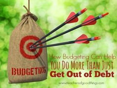 How Budgeting Can Help You Do More Than Just Get Out of Debt - Learning to budget your money will help you stay within your means, get out of debt and learn to save for things that matter in your family. Learn how to do it successfully! | www.teachersofgoodthings.com