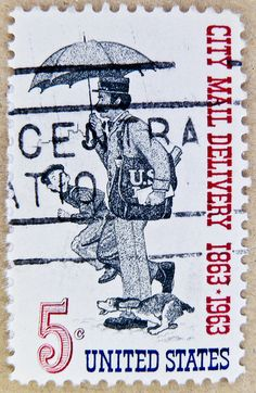 Stamp - USA 5c citymail delivery