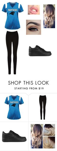 """""""Game Night"""" by fashionista-dxliv on Polyvore featuring Oasis, NIKE, women's clothing, women, female, woman, misses, juniors, football and BlueandBlack"""