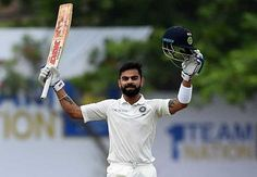 Virat Kohli raised his 17th Test ton before India declared with a 549-run lead
