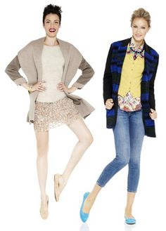 Pair cozy wool jacket with a textural top, and add a touch of sparkle with a fun skirt. Layer with your denim looks with a bold overcoat, paisley shirt and chic cardigan. Acessorize with a statement necklace.
