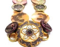 Antique bracelet bouton fleurs victoriennes et par AlliesAdornments
