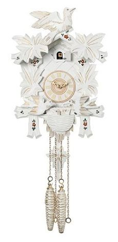 Never cared much for Cuckoo Clocks, but this white one is interesting.