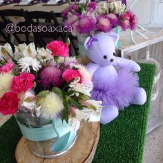 Centros de mesa para baby shower, bautizos o comunión. Románticos, rústicos y frescos. Disponibles en bodas Oaxaca o laboticadelasflores@gmail.com