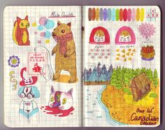 Mel Stringer's sketchbooks are the best thing ever. She's so talented.