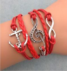 Red Music Set,DIY leather bracelet sets shop at Costwe.com