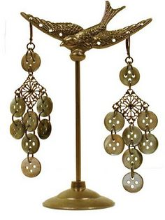 Love the idea of using buttons for these earrings!