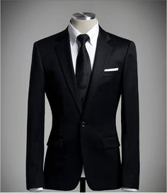 #2 I think it's really hard to find a suit that does not look just like any other. Basically it all stands and falls with the right fabric - here tie and jacket fit together perfectly = perfect suit.  Korean men's suits  More Fashion At   http://www.thedillonmall.com