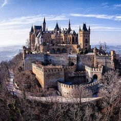 """""""Hohenzollern castle is nestled in the foothills of the Swabian Alps in Baden-Württemberg, Germany. It is not currently abandoned. Castle Ruins, Castle House, Medieval Castle, Gothic Castle, Beautiful Castles, Beautiful Buildings, Beautiful Places, Abandoned Castles, Abandoned Places"""
