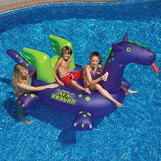 Giant Inflatable Pool Toy Ride On Pool Float Lake Beach Kids Floating Toy #DoesNotApply
