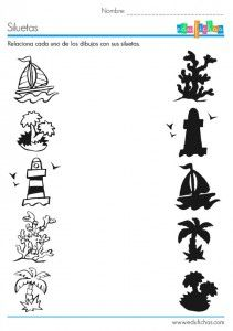 shadow worksheet for kids