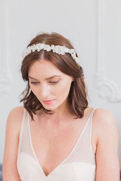 Silk flower wedding headband - 'Fae'