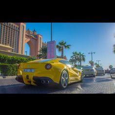 Ferrari. Dubai. Yellow.