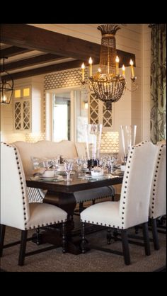 Reminds me of dining room Dining Area, Dining Room Table, Dining Room Design, Dining Rooms, Leather Dining Room Chairs, Dining Set With Bench, Leather Chairs, Dining Decor, Kitchen Chairs