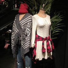 All winter long @HollisterCo @pixxyapp #sweaterweather  #cozy #sweaterdress #plaid #Pixxy