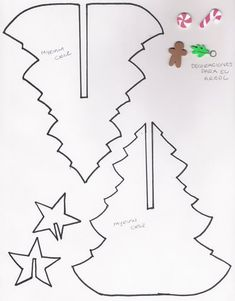 DIY; 3D Christmas Tree and Star Pattern. This is Great! Going to use it to Saw them out of Wood! :-D .....Pinito navideno