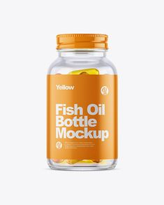 Clear Glass Fish Oil Bottle Mockup in Bottle Mockups on Yellow Images Object Mockups Apple Packaging, Imac Apple, Free Mockup Templates, Billboard Signs, Box Mockup, Bottle Mockup, Oil Bottle, Fish Oil, Weight Loss Supplements