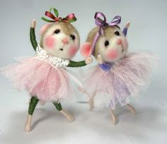 Tutorial to make mice: https://www.etsy.com/shop/barby303