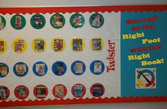 Twister Bulletin Board - start off on the right foot with the right book