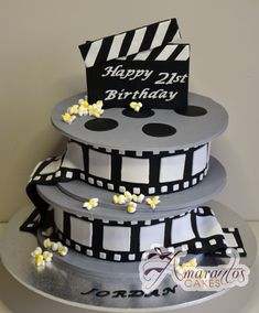 Two tier Film Reel Cake- NC333 - Amarantos Cakes