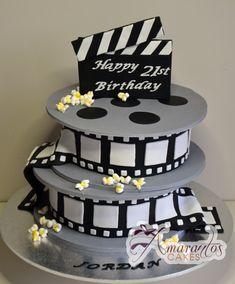 Two tier Film Reel Cake- NC333 - Amarantos Cakes