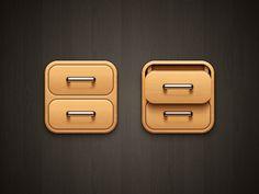 iOS Drawer icon
