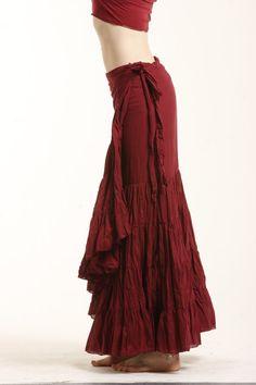 FLAMENCO SKIRT wrap Skirt GYPSIE skirt long by GekkoBoHotique  #boho #renaissance #fairy