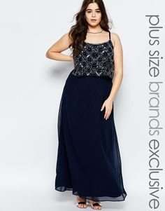 Lovedrobe+Double+Layer+Embellished+Maxi+Dress