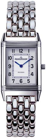 Q2618110 NEW JAEGER LECOULTRE REVERSO LADY LADIES WATCH Usually ships within 8 weeks- FREE Overnight Shipping- NO SALES TAX (Outside California)- WITH MANUFACTURER SERIAL NUMBERS- White Dial - Battery Operated Quartz Movement- 3 Year Warranty- Guaranteeed Authentic- Certificate of Authenticity- Scratch Resistant Sapphire Crystal - Steel Case and Bracelet - Manufacturer Box