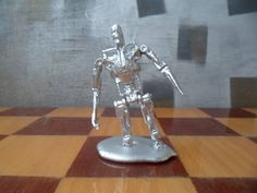 T-800 as T-1000, Resurrection from liquid metal, metal miniature, statuette, gift, souvenir, terminator, endoskeleton, Judgment Day by MikeMetalMiniatures on Etsy
