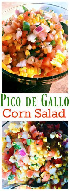 Easy Corn Pico de Gallo Salad