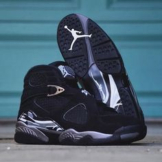 "1,608 Likes, 19 Comments - kickbackzny.com (@kickbackz) on Instagram: ""Nike Air Jordan 8 Retro ""Chrome"" at kickbackzny.com."""