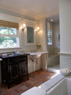 Saltillo Tile Design, Pictures, Remodel, Decor and Ideas - page 6  trying to figure out the powder room???