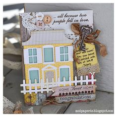 handmade housewarming cards | was super impressed with what other's had made! To me, a ...