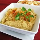 Hummus...this is so easy...and so yummy...and not even that bad for you! You can leave out the oil with no noticeable effect too.