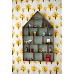 Dorm Display Cabinet by Ferm Living Dorm Shelves, House Shelves, Shelving, Box Houses, Mini Houses, Dream Houses, Tiny Treasures, Danish Design, Kids Decor