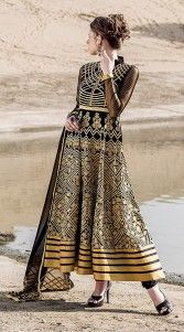 Perfect Embroidered Black Georgette Ankle Length Anarkali Suit 2BR126437