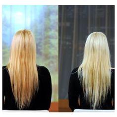 How to create that perfect bleach blonde hair, home remedy.     Mix  2 eggs 2tbs brown sugar 1/2 cup of bleach Mix into damp hair,  let sit for 20 minutes  Rinse hair, let hair air dry.