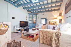 Ullastret; Living room #blueaccents