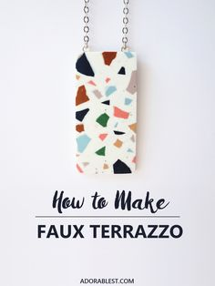 DIY - How to Make Faux Terrazzo | Adorablest